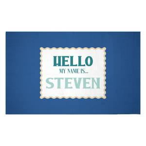 Hello, My Name Is Steven Woven Rug