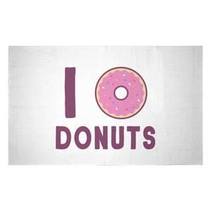 I Heart Donuts Woven Rug