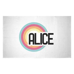 Alice Rainbow Woven Rug
