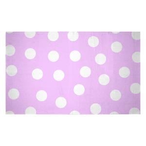 Light Pink Polka Dots Woven Rug