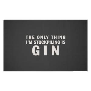 The Only Thing I'm Stockpiling Is Gin Woven Rug