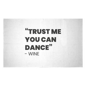 Trust Me You Can Dance - Wine Woven Rug