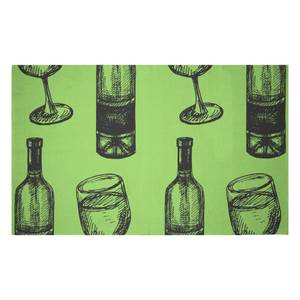 White Wine And Bottle Woven Rug
