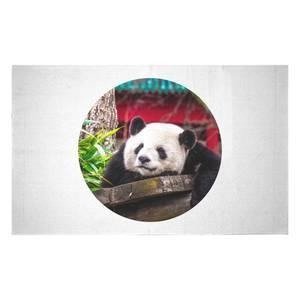Lazy Panda Woven Rug