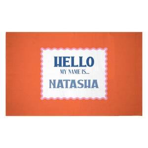 Hello, My Name Is Natasha Woven Rug