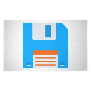 Blue Floppy Disk Woven Rug