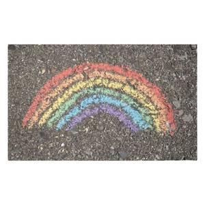 Chalk Rainbow Woven Rug