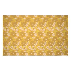 60s Floral Wallpaper Woven Rug