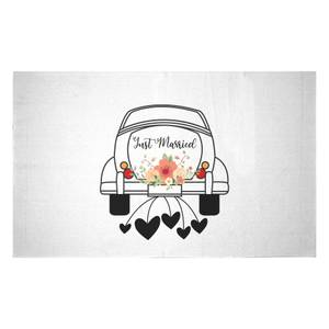 Just Married Car Woven Rug