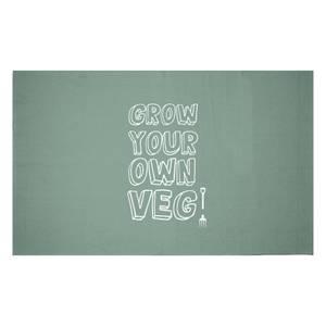 Grow Your Own Veg Woven Rug