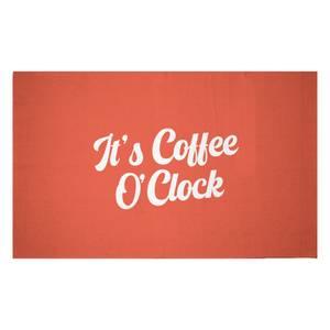 It's Coffee O'Clock Woven Rug
