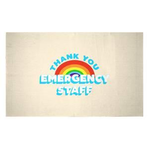 Thank You Emergency Staff Woven Rug