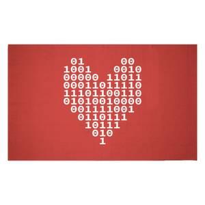 Binary Heart Woven Rug
