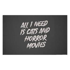 All I Need Is Cats And Horror Movies Woven Rug