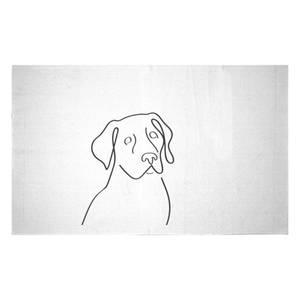 Line Drawing Dog Woven Rug