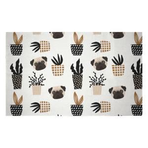 Pug & Cactus Woven Rug