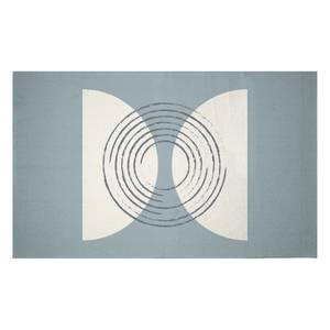 Linear Circles Woven Rug