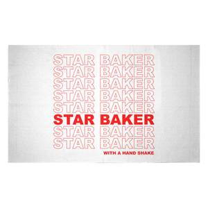 Star Baker With A Hand Shake Woven Rug