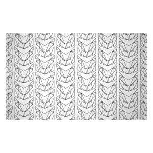 Black Geometric Owls Woven Rug