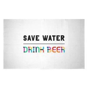 Save Water, Drink Beer Woven Rug