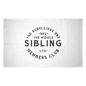 The Middle Sibling The Rebellious One Woven Rug