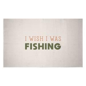 I Wish I Was Fishing Woven Rug