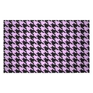 Light Pink Dogtooth Woven Rug