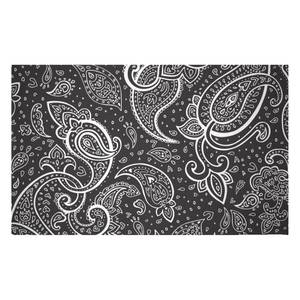 Inverted Paisley Woven Rug