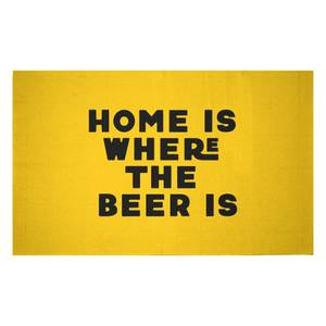 Home Is Where The Beer Is Woven Rug