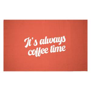It's Always Coffee Time Woven Rug