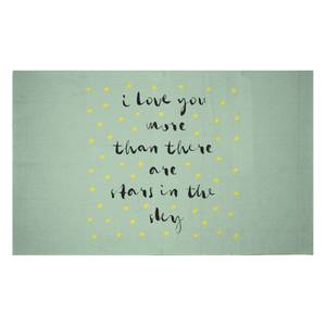 I Love You More Than There Are Stars In The Sky Woven Rug