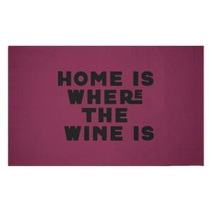 Home Is Where The Wine Is Woven Rug