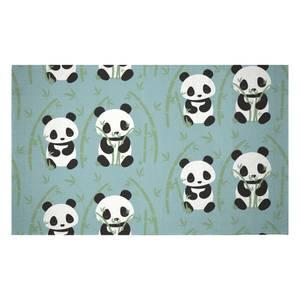 Panda Couple Woven Rug