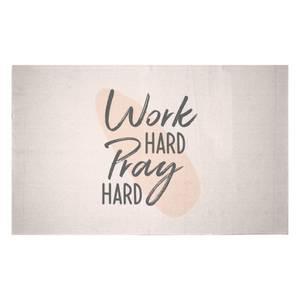 Work Hard Pray Hard Woven Rug