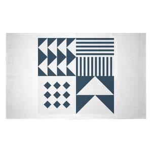 Geometric Retro Woven Rug