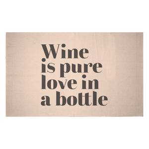 Wine Is Pure Love In A Bottle Woven Rug