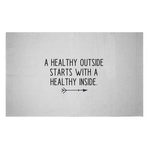 A Healthy Outside Starts With A Healthy Inside Woven Rug