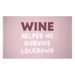 Wine Helped Me Survive Woven Rug