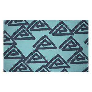 Abstract Tribal Triangular Pattern Woven Rug