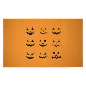 Pumpkin Faces Woven Rug