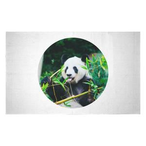 Greedy Panda Woven Rug