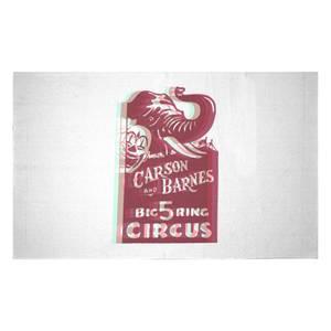 Carson And Barnes Big Five Ring Circus Woven Rug