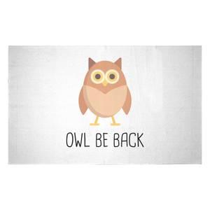Owl Be Back Woven Rug