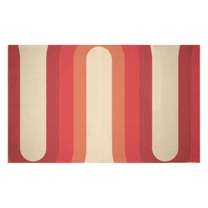Red Groove Woven Rug