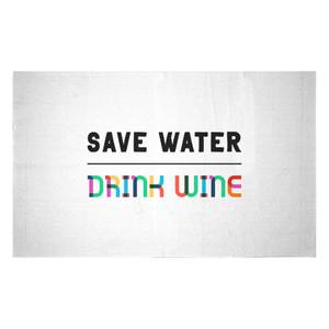 Save Water, Drink Wine Woven Rug