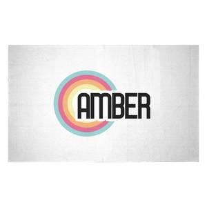 Amber Rainbow Woven Rug