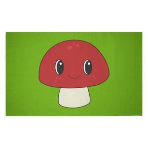 Mushroom Woven Rug