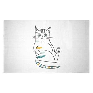 Inquisitive Cat Woven Rug