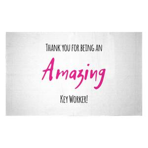 Thank You For Being An Amazing Key Worker! Woven Rug