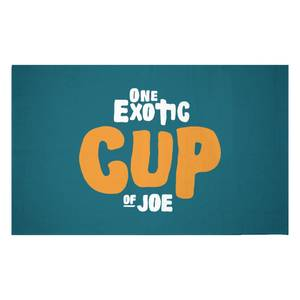 One Exotic Cup Of Joe Woven Rug